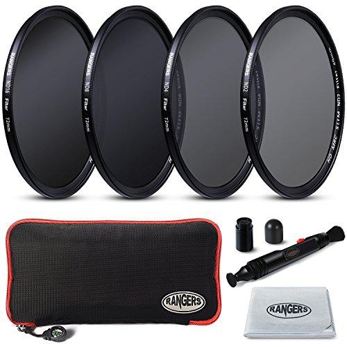 Rangers Fokus Serie 72mm Voll ND-Filter beinhaltet Voll ND2, ND4, ND8, ND22 Filter + Tragetasche +...
