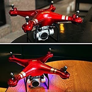 Hanbaili SH5 Drone with 720P Camera Live video + Phone Holder,Quadcopter with Brush Motor,Pressure Set Height Headless Mode