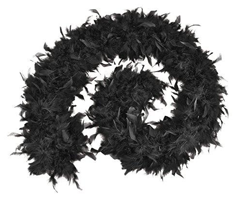 70 Federboa, Schwarz, Einheitsgröße ()