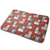 LiminiAOS Weihnachtsrote Lamas, Teppichmatten für Veranda, Schuhteppich