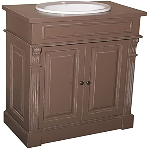 Casa Padrino country-style wash basin vanity washbasin incl 1 Venice - Bathroom Cabinet, color:Schrank Shabby Chic Braun Platte Shabby Chic