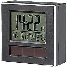 Infactory–Solar pieza de repuesto para DCM de reloj despertador con termómetro y calendario