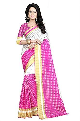 Kamela Saree Georgette Saree With Blouse Piece (Zaarnapinksaris_Pink_Free Size)