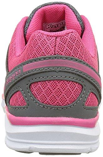 Kappa - Fanger Pu, Scarpe fitness Bambina Grigio (Gris (950 Dk Grey/Pink Paradise))