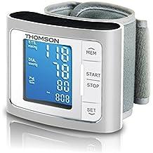 Thomson TTMB1014 - Tensiómetro de muñeca eléctrico, pantalla LCD, compatible con iOS y Android