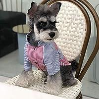 Frühling Sommer Dog Shirt Mode Gestreiften Kurzarm Coole Bequeme Baumwollhemd Universal Hundebekleidung Für Die meisten Hunde