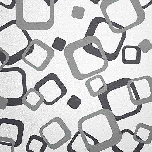 WANDfee® Wandtattoo Vierecke 60 Aufkleber FARBWUNSCH Wandaufkleber Kinderzimmer Wohnzimmer Flur Fliesenaufkleber Bad Badezimmer Küche