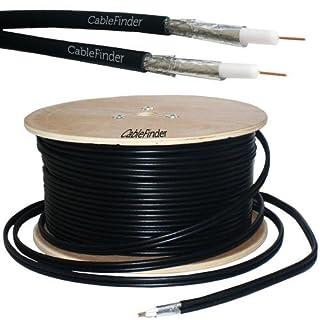 100M RG6 Twin Coaxial Shotgun Cable - Aerial Satellite Dish LNB - Sky+/HD Freesat - Loops
