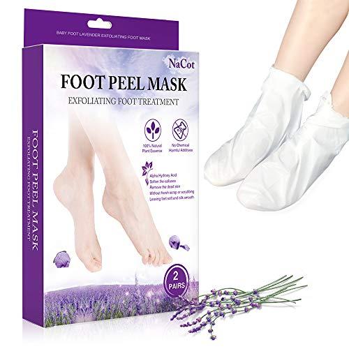 2 Paar Fußmaske zur Hornhaut Entfernung Anti Hornhaut Socken Lavendel Fuß Peeling Maske Fußpflege Beauty Fussmaske