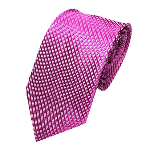 Gestreifte Krawatte in 5cm Breite in verschiedenen Farben klassisch Schlips Männer-Design zum Hemd mit Anzug für Business - Übergröße Mario Kostüm