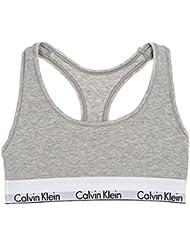Calvin Klein Damen Bustier Modern Cotton, sportlicher Bralette aus weichem Baumwoll-Mix, elastisches Unterbrustband, Racerback, Größen: XS - XL