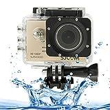 SJCAM SJ5000 Novatek Full HD 1080P 2. 0 inch LCD Screen Sports Camcorder Camera with Waterproof Case, 14. 0 Mega CMOS Sensor, 30m Waterproof(Gold)