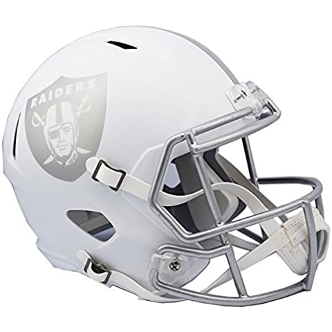 Oakland Raiders ICE Speed Full Size NFL Replica Football Helmet - Officially Licensed by Riddell