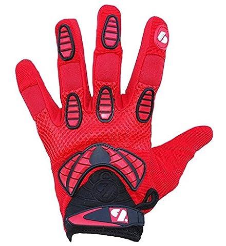barnett FRG-02 gants de football américain de receveur fit, rouge
