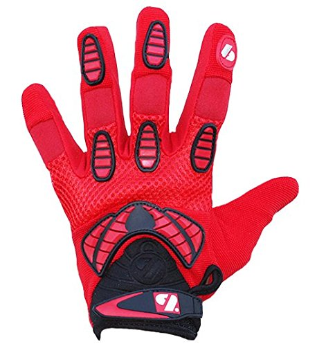 FRG-02 American Football Handschuhe Receiver, Empfänger fit, RE,DB,RB, rot (M)