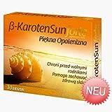 Beta Karotone Sun Forte | 30 Tabletten Vegan | Beta-Carotin für schöne Bräune | Anti-Aging der Haut | Apotheken-Ware - Pharma Qualität nach GMP & HACCP