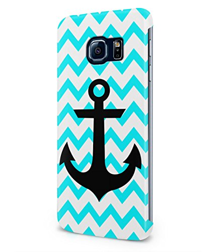 Chevron Pattern With Sailor Anchor Tumblr Plastic Snap-On Case Cover Shell For Samsung Galaxy S6 EDGE