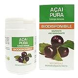 Bacche dI Acai Estratto Puro Naturpharma 50 Vegan capsule da 500 mg | Titolato al 10% in Polifenoli | Integratore Naturale di supporto al metabolismo dei lipidi e dei carboidrati.