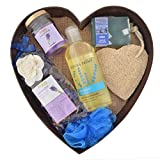 Bodyherbals Lavender Surprise Bathing Set (Lavender Shower Gel, Bathing Bar, Spa Accessories)
