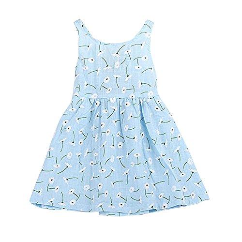 Babykleidung Honestyi Baby Kind Mädchen Sleeveless Einteiliges Kleid -