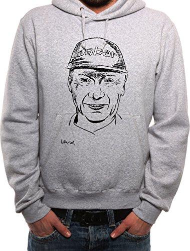 Mister Merchandise, Felpa con Cappuccio Felpa con Cappuccio Niki Lauda Felpa con Cappuccio Maglione Grau S