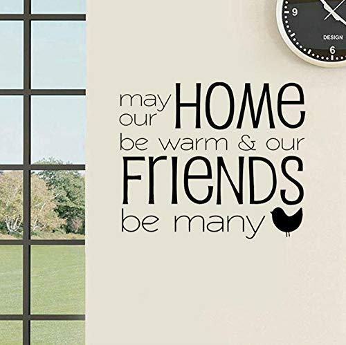 JIWAWAR 65CM * 55CM Mai ist unser Haus warm u. Freunde ist viele Kunst-Dekor PVC-Wand-Aufkleber (Mais-schale Tiere)