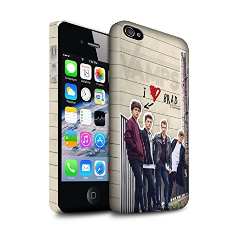 Offiziell The Vamps Hülle / Matte Snap-On Case für Apple iPhone 4/4S / Pack 5pcs Muster / The Vamps Geheimes Tagebuch Kollektion Brad