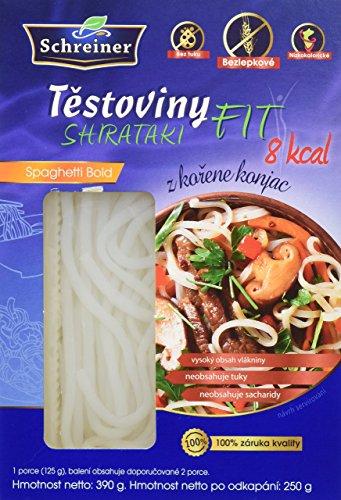 Nudeln Shirataki FIT - Nudeln aus der Konjakwurzel in Spaghetti bold form, 4 x 390 g, glutenfrei 4er pack
