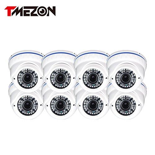 TMEZON-Cmara-de-20MP-8Pack-HD-AHD-al-aire-libre-Cpula-Da-Noche-28-12mm-lente-varifocal-1080P-42IR-LED-slo-funcionan-con-AHD-DVR