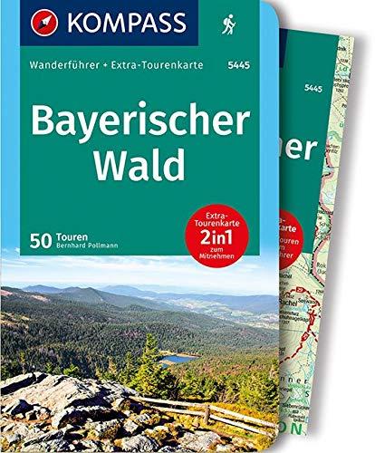 KOMPASS Wanderführer Bayerischer Wald: Wanderführer mit Extra-Tourenkarte 1:100.000, 50 Touren, GPX-Daten zum Download.