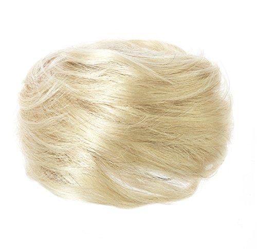 American Dream Luxueux Chignon 100 % Cheveux Humains Couleur 60 Blond Pur Grand