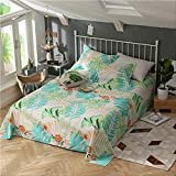 Drap de lit en Coton à la Mode Rose Motif 230x250cm Ensemble 3 Taille Drap Plat uni...