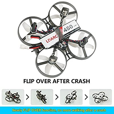 LDARC TINY R7 Micro FPV Racing Drone 75mm RC Quadcopter with 820 Motor 5.8g 800TVL Camera F3 Betaflight Flip-Over Mode
