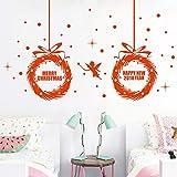 Noël Stickers Muraux,LUCKYCAT Amovibles Mur De Fenêtres 2019 En Vinyle De La Autocollants Maison 2019 Happy New Year White guirlande Wall Sticker