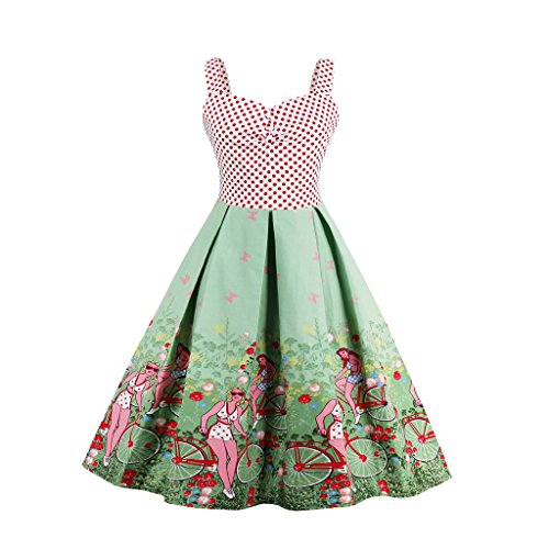Dissa M1500 Vintage pin-up 50s 60s Robe de Soiré,Bal cocktail Rockabilly Swing femme Vert