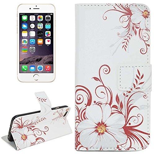Phone case & Hülle Für IPhone 6 / 6S, Kirschblüten-Muster-horizontale Flip Magnetische Wölbungs-Leder-Kasten mit Einbauschlitzen u. Mappe u. Halter ( SKU : S-IP6G-0599F ) S-IP6G-0599D