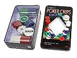 Set da poker 100 fiches con valore in euro gioco texas hold'em con gettone dealer in confezione scatola B2