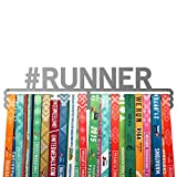 Running medalla percha # Runner–Soporte de acero inoxidable