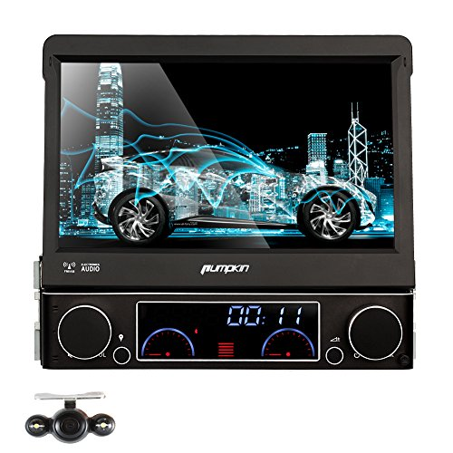 single din car stereo amazon co uk pumpkin 7 inch single din in dash hd touch screen car dvd player gps navigation stereo support bluetooth sd usb ipod av in dvr 3g subwoofer wince