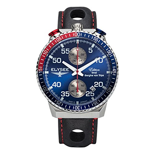 Elysee Mens Watch Graf Berghe von Trips Rally Timer I Chronograph 80521MM