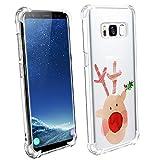 Funda Samsung Galaxy S8 Fundas Carcasas Case Caso para Samsung Galaxy S8 TPU Navidad Cover Tecnología de amortiguación de aire y protección híbrida contra caídas (Color 13)
