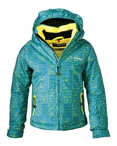 Maier Sports Kinder Ski-Jacke Dotts mTEX girl, blue / yellow allover, 92, 310701