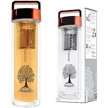 Amazon.de: Teeflasche Glas Teekanne Teebereiter