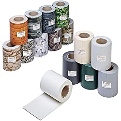 ESTEXO Profi Qualität PVC Sichtschutz-Streifen, Zaunblende, Folie, Doppelstabmatten, Zaun, Zaunfolie (70 Meter = 2 x 35 Meter, Kies-Optik)