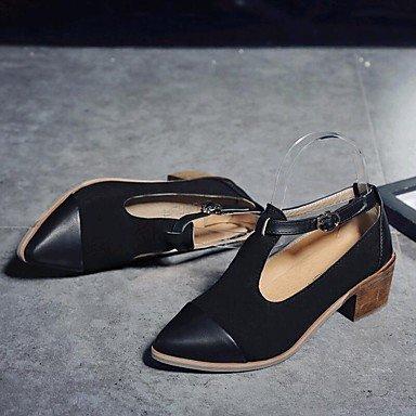 Stivali Donna Primavera Estate Autunno Inverno Comfort Novità Suede Leatherette Outdoor Office & Carriera Casual Ch Black