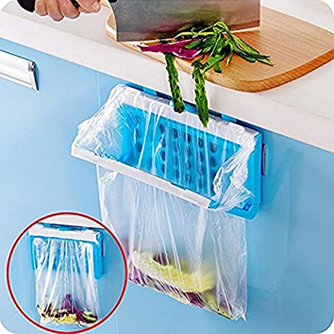HULISEN Collapsible Practical Hanging Kitchen Cupboard Cabinet Tailgate Stand Storage Garbage Bag Holder Plastic