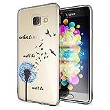 Samsung Galaxy A3 2016 Coque Protection de NALIA, Housse Motif Silicone Portable Premium Case Cover Transparente, Ultra-Fine Souple Gel Slim Bumper Etui pour A3-16, Designs:Dandelion Bleu