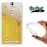 Becool® Fun - Funda Gel Flexible para Elephone P8000, Carcasa TPU fabricada con la mejor Silicona, protege y se adapta a la perfección a tu Smartphone y con nuestro exclusivo diseño. Cerveza rubia