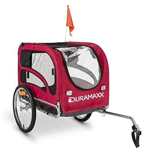DURAMAXX King Rex Fahrradanhänger für Hunde