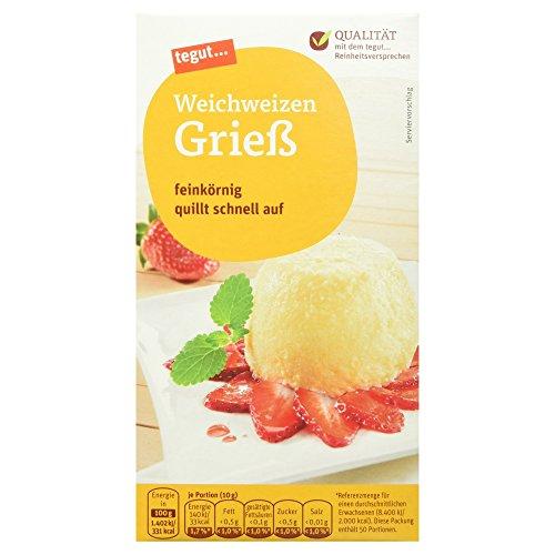 tegut… Weichweizen-Grieß, 500 g